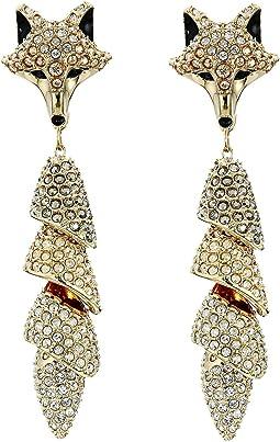 March Fox Pierced Earrings