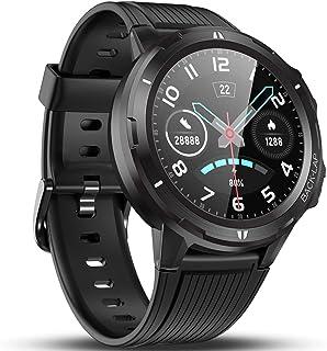 Naack Bluetooth Smart Watch Pantalla táctil IP68 Impermeable Frecuencia cardíaca Monitoreo de la presión Arterial Salud Deportes Fitness Rastreador Pulsera de Actividad Compatible con iOS y Android