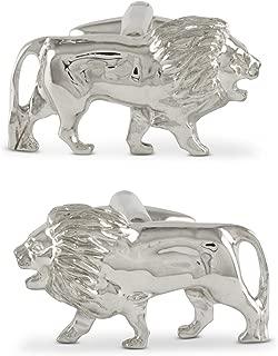 ZAUNICK Crouching Lion Cufflinks Sterling Silver Handcrafted