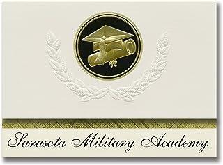Signature Announcements Sarasota Military Academy (Sarasota, FL) Graduation Announcements, Presidential style, Elite packa...