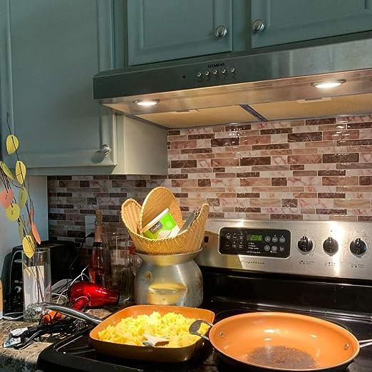 Longking Peel Stick Tile Backing Kitchen Decorative Tiles 10 Tiles Amazon De Home Kitchen