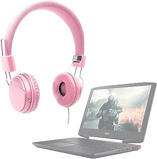 DURAGADGET Auriculares De Diadema Color Rosa para Portátil Medion Erazer P6689, P7651, Medion P6687 / XMG Core 15 / Acer Aspire 7 715-71G-78FD