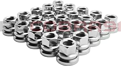 4.5 Tall Socket Included Fits 8 Lug Chevrolet Silverado 1500 2500 3500 HD Aftermarket Rims Only RdCobra91 32 Pc Chrome Twisted Spike Lug Nuts Forged Metal M14x1.5
