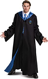 Harry Potter Robe, Deluxe Wizarding World Hogwarts House Themed Robes for Adults, Movie Quality Dress Up Costume Accessory