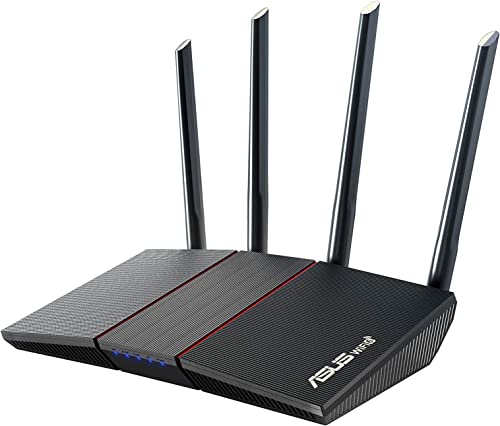 ASUS AX1800 WiFi 6 Router (RT-AX55) - Dual Band Gigabit Wireless Router Speed & Value Gaming & Streaming AiMesh Compatible Included Lifetime Internet Security Parental Control MU-MIMO OFDMA