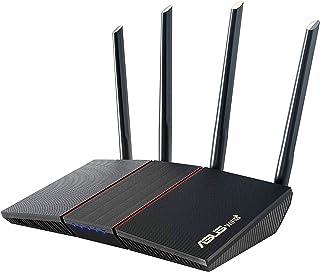 ASUS RT-AX55 AX1800 Dual Band WiFi 6 Gigabit Router, 802.11ax, Lifetime Internet Security, Parental Control, Mesh WiFi Sup...