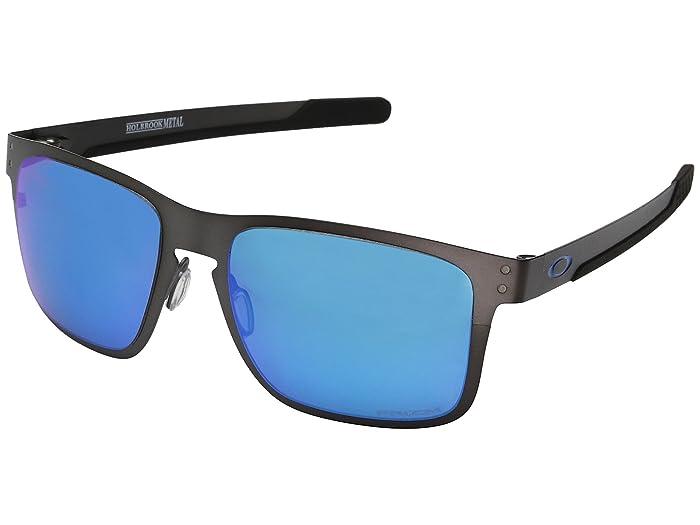 Oakley Holbrook Metal (Matte Gunmetal w/ Sapphire Iridium) Fashion Sunglasses