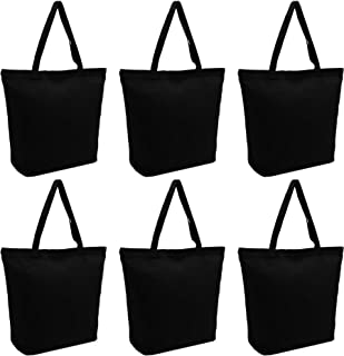 SMIBUY 3 | 6 Pack Super Large Canvas Tote Bags, 18.5 X 15.7 X 5.9 inch 12oz Blank Tote Bags Bulk with Handle & Bottom Guss...