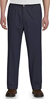 Harbor Bay by DXL Big and Tall Elastic-Waist Twill Pants - Updated Fit
