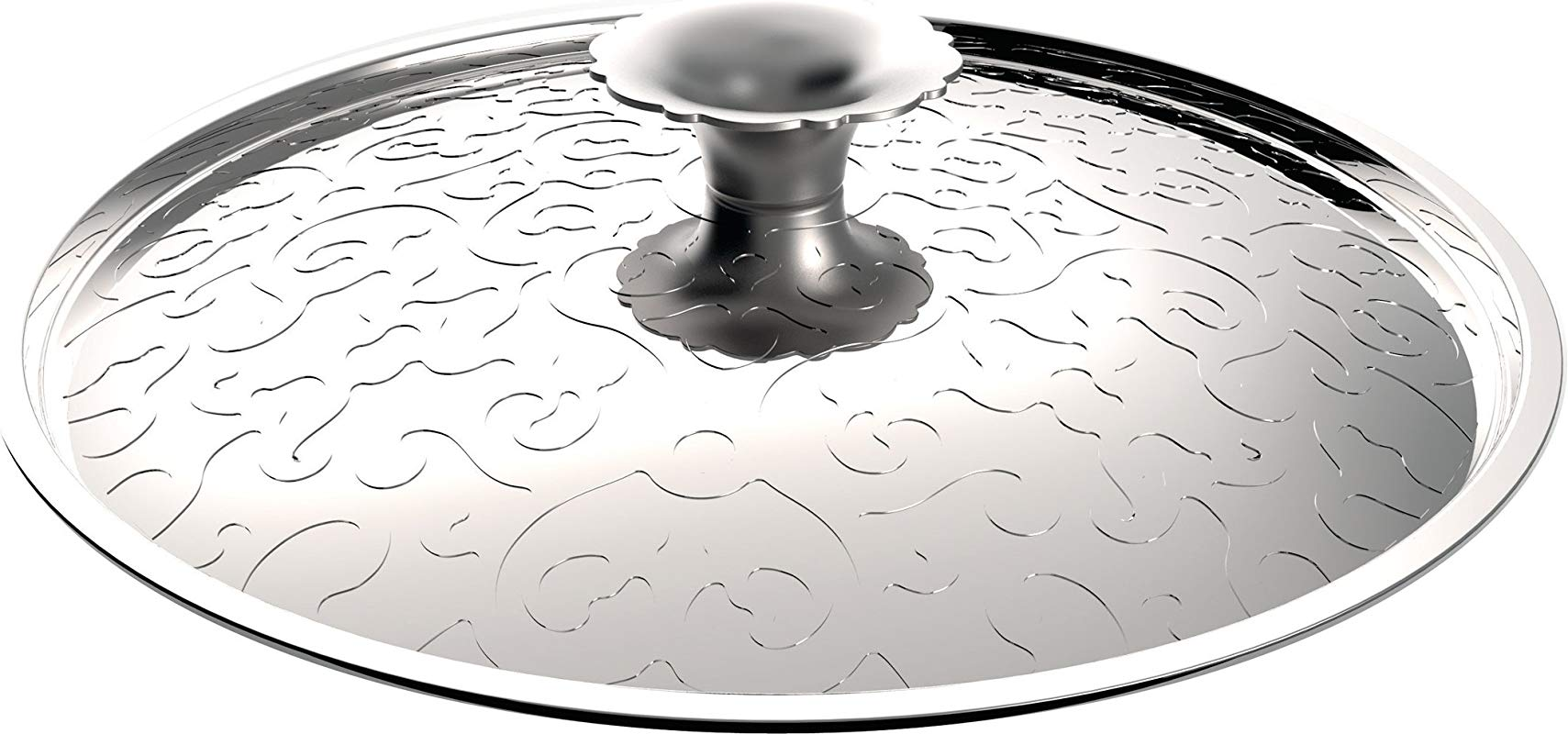 Alessi MW200 24 Dressed Lid In 18 10 Stainless Steel Mirror Polished With Relief Decoration Silver