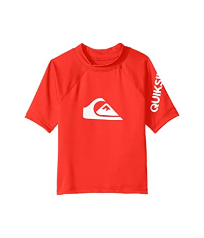 Quiksilver Kids All Time Short Sleeve Rashguard (Toddler/Little Kids) (High Risk Red) Boy
