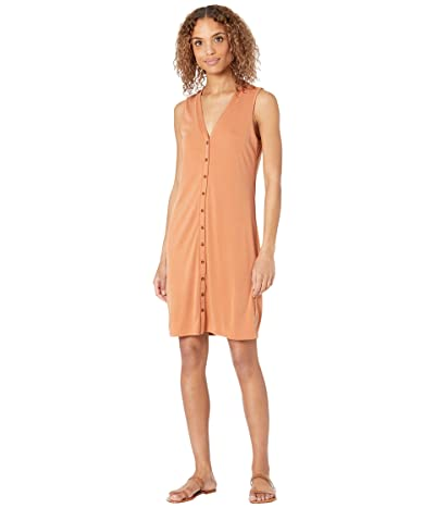 Lucky Brand Sandwash Rib Tank Dress (Amber Brown) Women