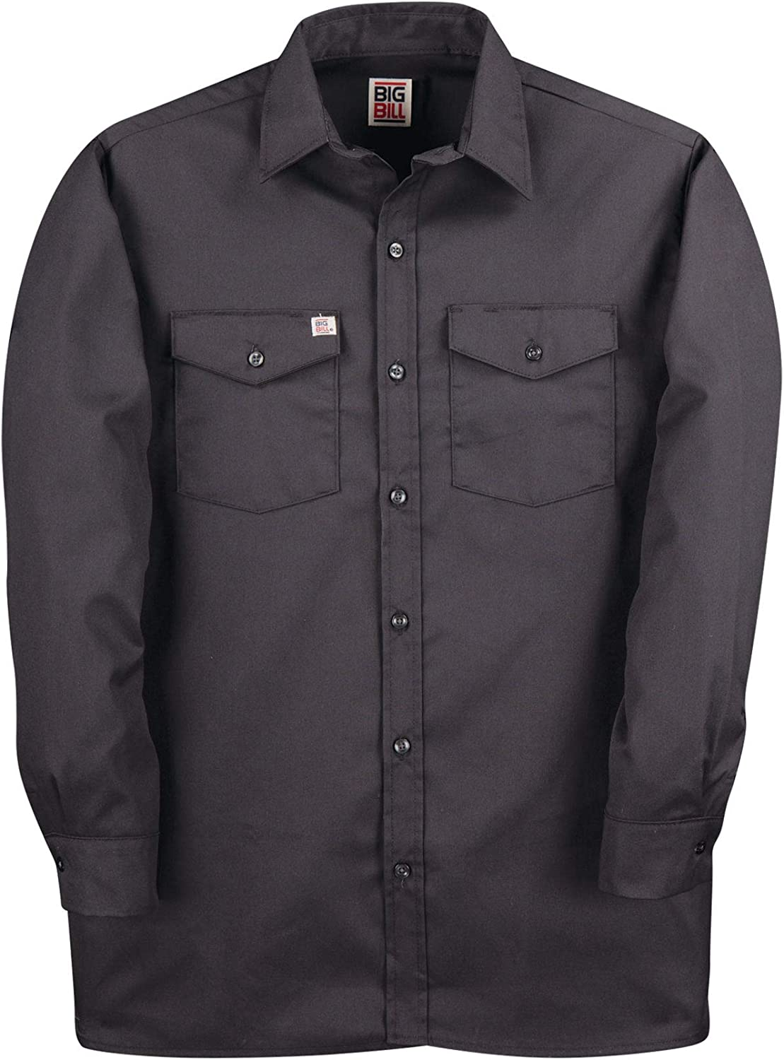 Regular and Big and Tall Long Sleeve Premium Work Shirts to 5XB and 5XT in 5 Colors Made in Canada