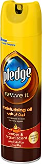 Pledge Moisturizing Oil, Amber & Argan Scent, Furniture Polish 9.7 oz