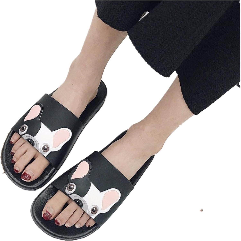 Fashion Bulldog Indoor Slippers Home Beach Women Cartoon shoes