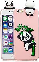 HopMore Compatible con Funda iPhone 6S Plus/iPhone 6 Plus Silicona Dibujo 3D Divertidas TPU Gel One Piece Kawaii Ultrafina Slim Case Antigolpes Caso Protección Design Carcasas Gracioso - Panda Rosa