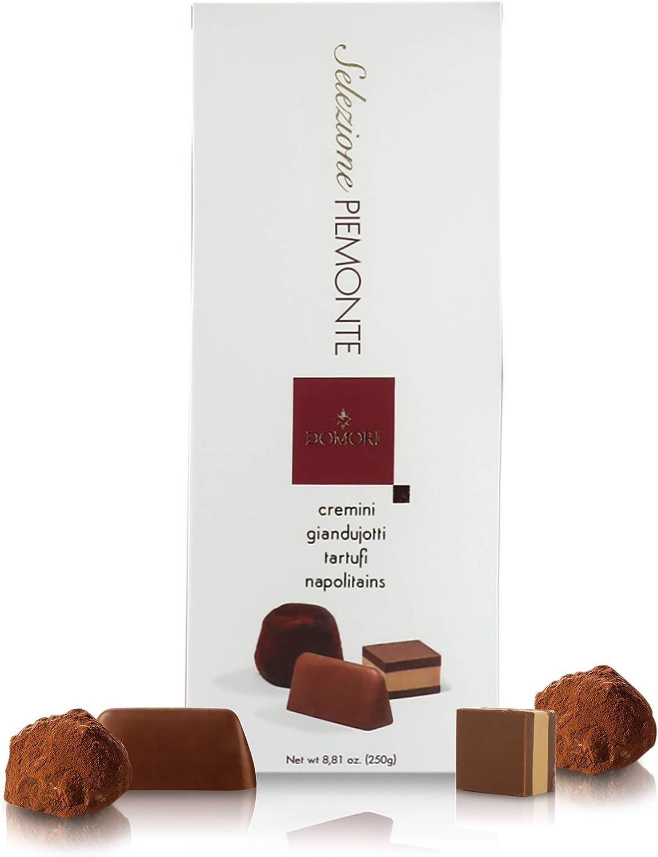 Surtido de Bombones y Chocolates Italianos: Gianduiotti, Cremini, Trufas y Napolitains - 250 Gramos
