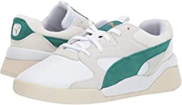 Puma White/Teal Green