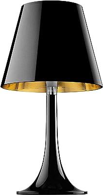 Flos Miss K T Table Lamp Black with Aluminized Shade, Black