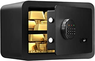 TENAMIC Safe Box 0.85 Cubic Feet Electronic Digital Security Box, Keypad Lock Box Cabinet Safes, Solid Alloy Steel Office ...