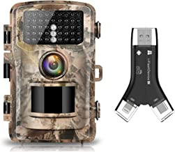 "Campark Trail Camera 16MP 1080P 2.0"" LCD Hunting Camera and SD Card Reader"