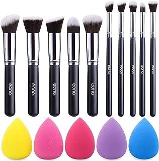 Amazon Brand – Eono Makeup Brush Set Premium Synthetic Kabuki Foundation Face Powder Blush Eyeshadow Brushes Makeup Brush ...