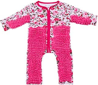 HUBA Baby Mopp Strampler Outfit Kleinkind Kriechen Overall Junge Mädchen Polituren Fußböden Reinigung Mop Schlafstrampler0-24 Monate