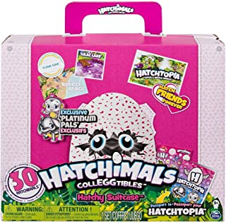 SpinMaster Hatchimals Best Friends Travel Pack - 30 Hatchimal CollEGGtibles Included, with Exclusive Platinum Pals