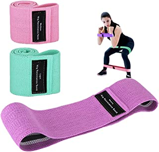 Landcorssers Booty Bands for Women, 3 Resistance Bands for Legs and Butt, Exercise Workout Bands for Weight Training Pilat...
