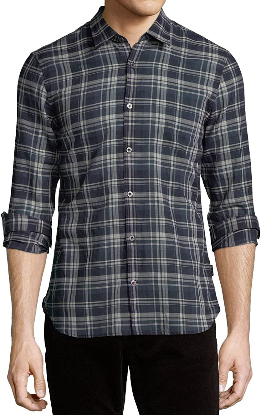 All items in the Fashionable store John Varvatos Men's Long Shirt Plaid Sleeve