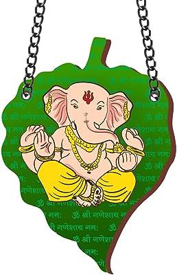 Yaya Cafe™ Om Ganesha on Leaf Wall Decor Hanging