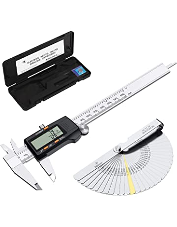 Mm//Inch Conversion by Wapexo Vernier Caliper Precison Electronic Caliper Measuring Tool for DIY Handcraft Premium 150mm Digital Ruler with Large LCD Screen