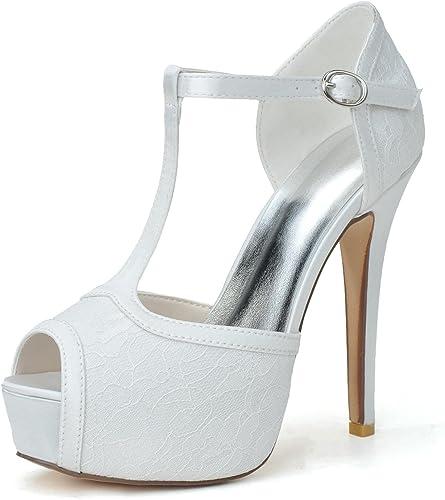 Elegant High zapatoszapatos de Boda para mujer   3128-28 Sandalias de Punta de Seta Seda Hebilla de Gran tamaño