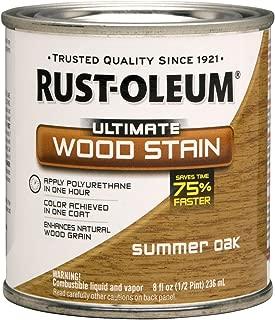 Rust-Oleum 260360 Ultimate Wood Stain, Half Pint, Summer Oak