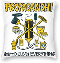 not Propagandhi How to Clean Everything Pillowcase Zippered Throw Pillow Cover Soft Cotton Comfortable Picture Printed Custom Multiple Size
