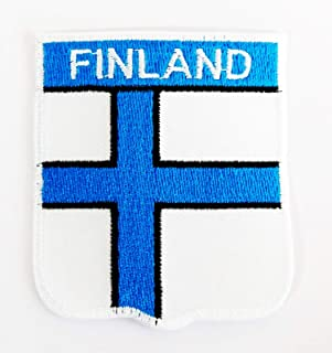 Finland Flag is Officially Called Republic of Finland 2.5X2.75 in MEGADEE Patch Cartoon Kids Symbol DIY Iron on Patch Iro...