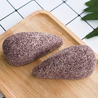 Earth Lava Pumice Stone for Foot, Horsky SPA Soft Healthy Foot Callus Remover for Dry Hard Dead Skin Cracked Heel in Feet and Hands Skin Exfoliator Scrubber Drops Shape