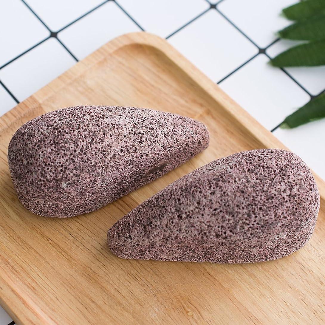 確認するクレーター別のDrops形状Pumice Stone、Horsky Earth Lava Spaソフト健康足カルスリムーバーfor DryハードDeadスキンCrackedヒールで足と手スキンエクスフォリエーターScrubber