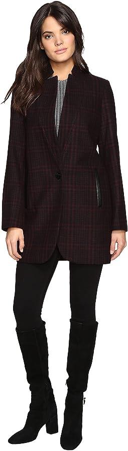 Wool Plaid Coat M221670T