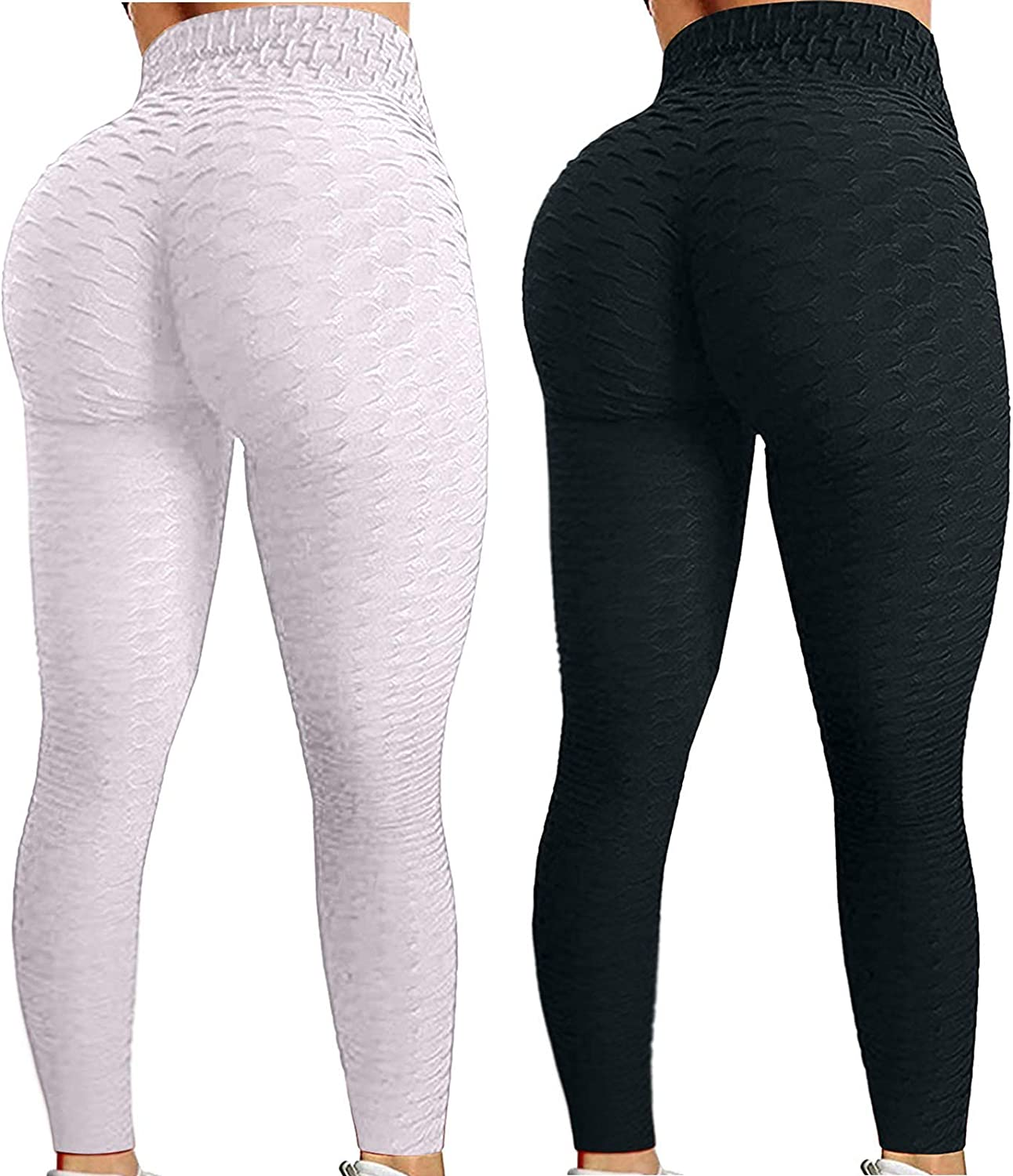 Gwewei4df 2PC TIK Tok High Waist OFFicial mail order Leggings Pants Yoga Seamless Beauty products Yo