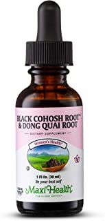 Maxi Health Black Cohosh Root and Dong Quai Root Extract - Women's Formula, 1 Fl Oz Bottle - Kosher