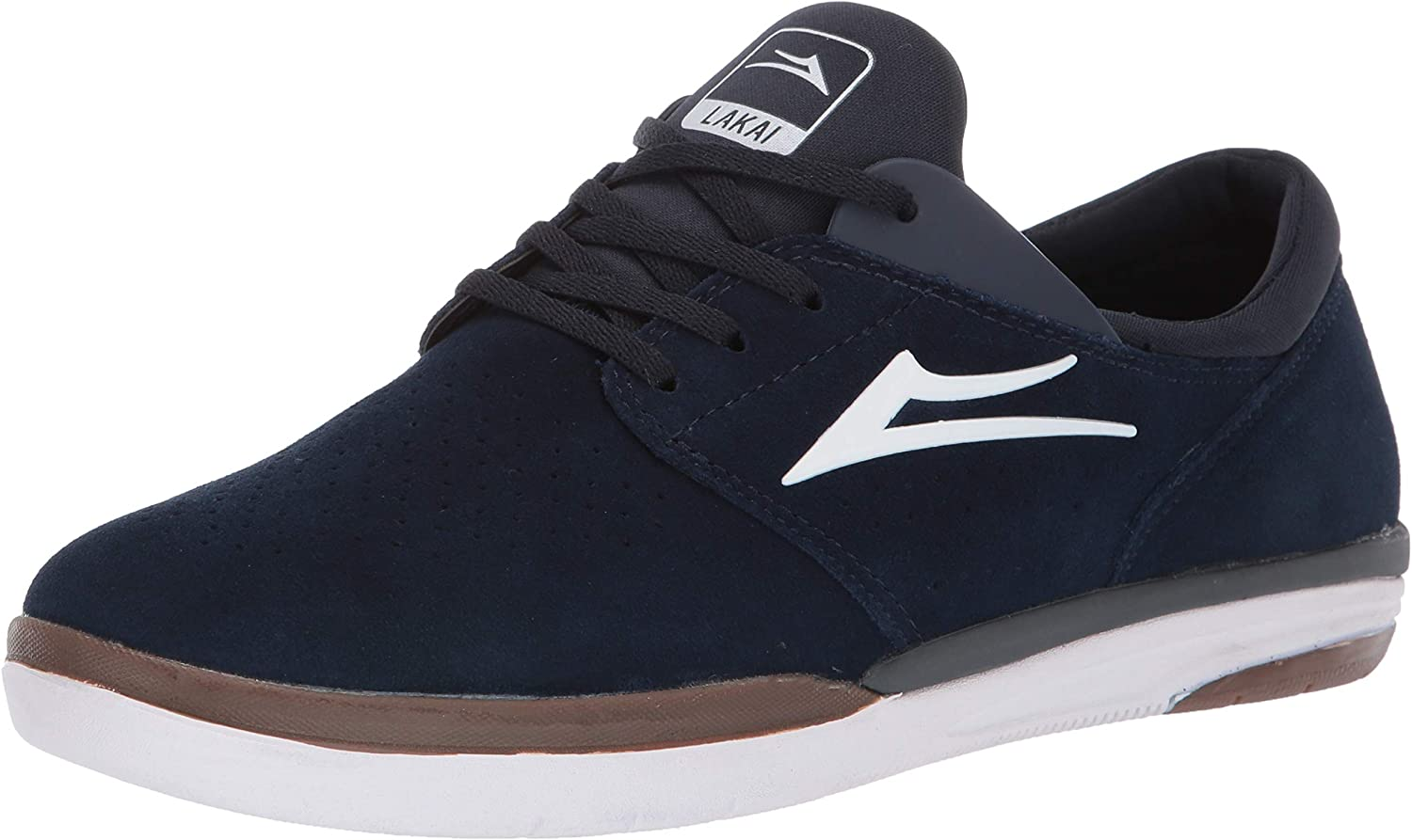 Lakai Footwear Fremont Navy Suedesize Tennis shoes, Navy Suede