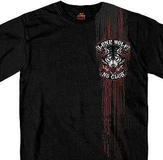 Hot Leathers Jumbo Lone Wolf 100% Cotton Double Sided Printed Biker T-Shirt