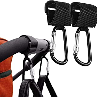 HyAdierTech 2-pack barnvagnskrok barnvagnsklämmor barnvagnskrokar med lås för barnvagn shoppingväska rullstol användning o...