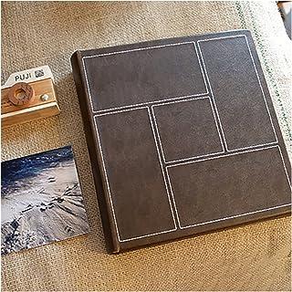 LAIQIAN Livre Photo, Rétro 7 Pouces Insérer Une Album Photo Album Scrapbooking Family Photo Albums Creative Stamp Collect ...