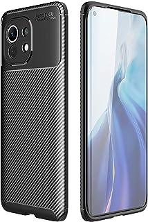 For Xiaomi Mi 11 AutoFoucs carbon Fiber Slim Soft TPU Case Cover - Black