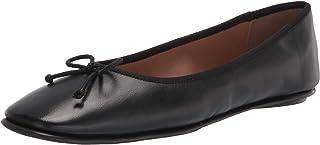 حذاء باليه Catalina نسائي مسطح من Aerosoles مصنوع من الجلد الأسود، مقاس 6