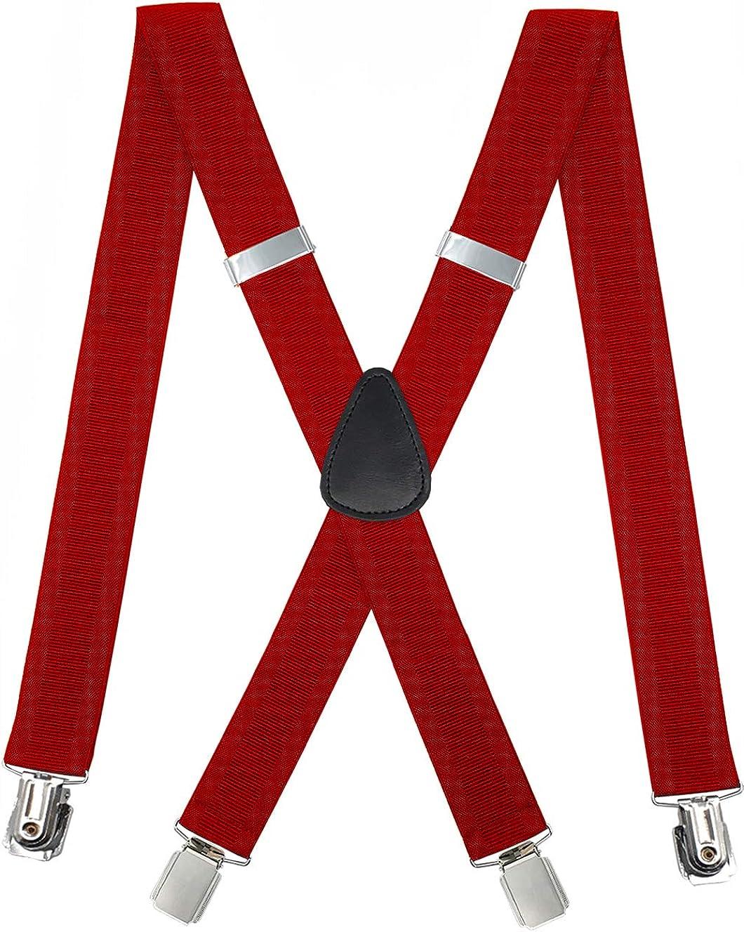 METUUTER Suspenders for Men – Heavy Duty Strong Clips Adjustable Elastic X Back Braces Big and Tall Men's Suspenders