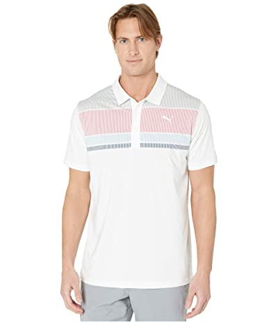 PUMA Golf Road Map Polo (Rapture Rose/Blue Bell) Men