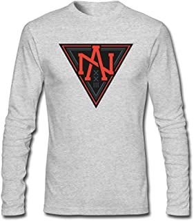 Men's Team North America World Cup of Hockey Logo Long Sleeve T Shirts/Tee